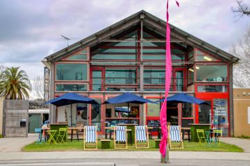 Colourful Lakeside Cafe