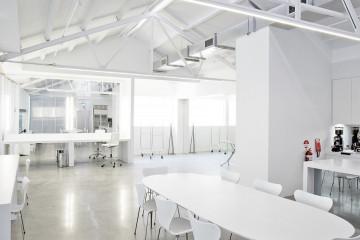 A large contemporary daylight studio